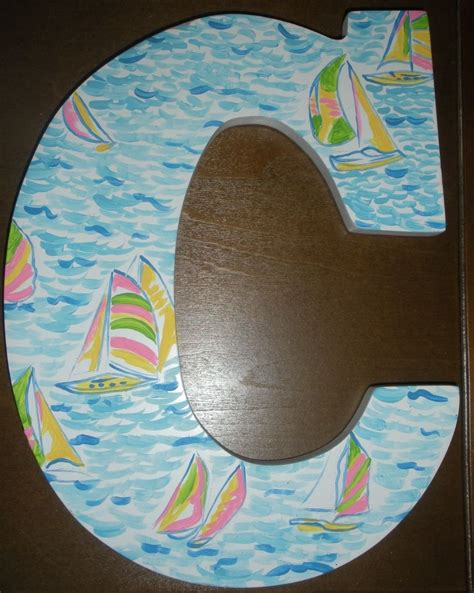 lilly pulitzer sorority letters buy a made lilly pulitzer inspired wooden wall letter 23449 | 137338.450734