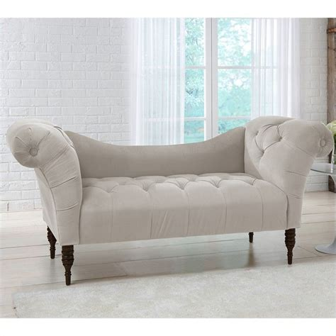 chaise lounge tufted skyline furniture tufted chaise lounge in light gray