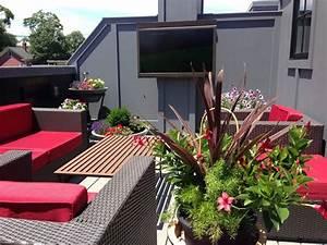 balkon gestalten infos und ideen garten mix With markise balkon mit wandgestaltung tapete wohnzimmer