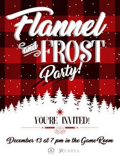 Flannel & Frost Holiday Party Printable Invitation