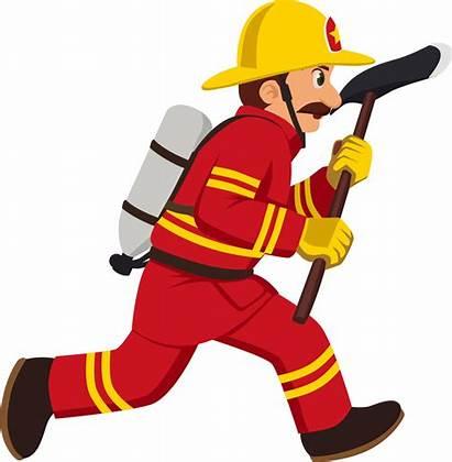 Fireman Cartoon Firefighter Clipart Uniform Indian Worker