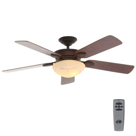 rustic ceiling fans with lights hton bay san lorenzo 52 in indoor rustic ceiling fan