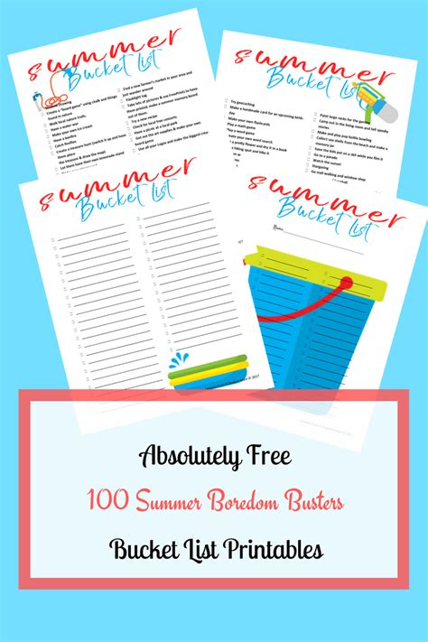 Supercharged Summer Bucket List + Free Printable Summer