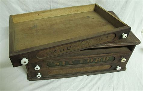 antique 19th c willimantic 3 drawer spool cabinet store