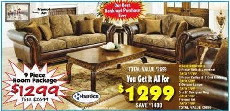 unclaimed freight furniture stores