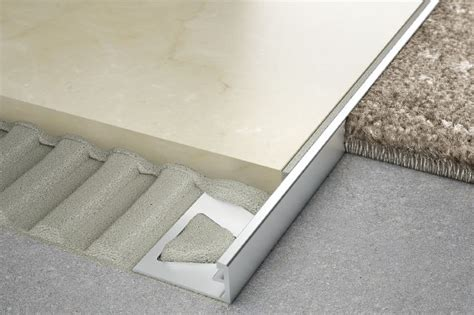 schluter tile to carpet transition for walls profiles schluter