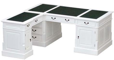 bureau anglais bureau d 39 angle victorien acajou blanc cambridge meuble