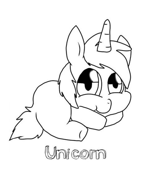 cute baby unicorn coloring pages dukabooks drawing