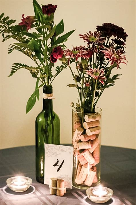 wine themed centerpieces