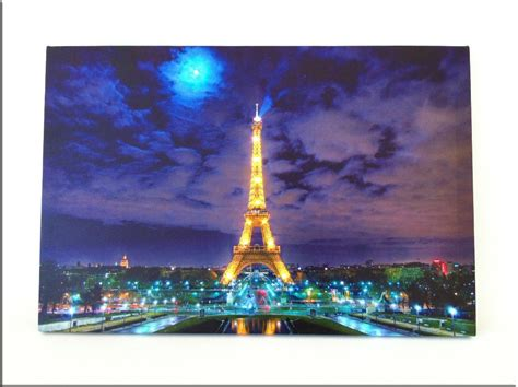 8 led lights wall art canvas paintings light up stretched and framed art work free shipping