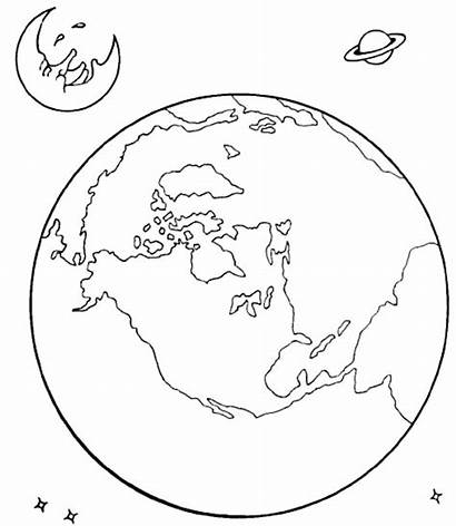 Coloring Earth Solar Pages Space System Moon