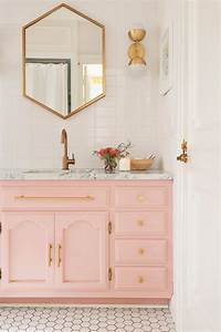 526 best bathroom design images on pinterest for Kitchen colors with white cabinets with pink bathroom wall art