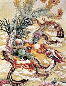 Chinese phoenix & dragon painting | Inspiration: Phoenix ...
