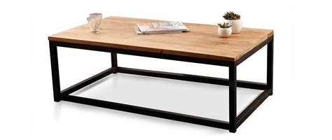 table basse industrielle metal et bois table basse industrielle bois m 233 tal factory miliboo