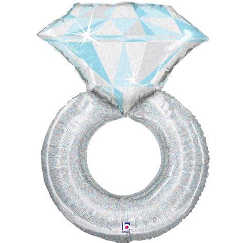 platinum wedding ring shaped 37 quot foil helium balloon buy