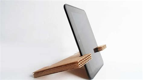 simple cardboard tablet stand diy
