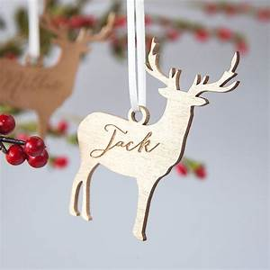 Personalised, Christmas, Reindeer, Decoration, By, Clouds, And, Currents