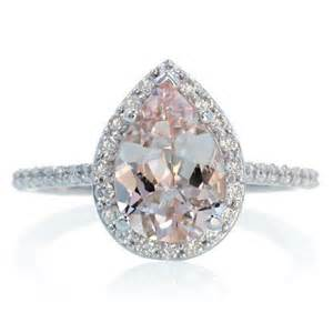 unconventional engagement rings 14k white gold pear cut morganite engagement ring shape