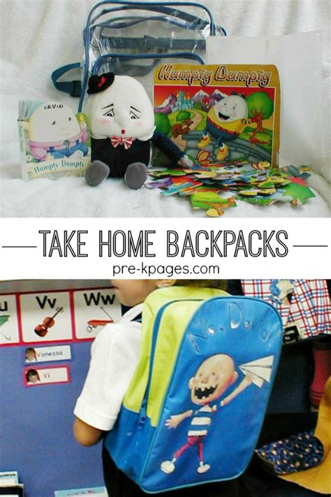 preschool and kindergarten take home bags 618 | take home backpacks