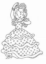Coloring Pages Flamenco Spanish Spain Colouring Coloriage Dance Sheet April Dancers Espagne Danseuse Enregistree Depuis sketch template