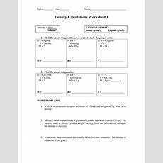 10 Best Images Of Density Worksheet Answers  Density Calculations Worksheet Answers, Density