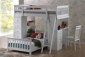 Huckleberry loft bunk beds for kids with storage desk for Kids bunk beds with desks