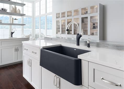 farm style sinks for kitchen blanco launches ikon the apron front sink of its 8909