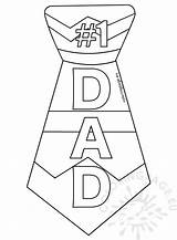 Tie Dad Printable Template Coloring Father Sizzling sketch template