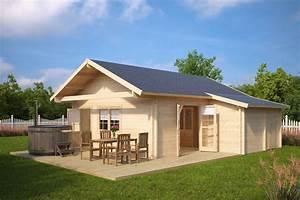 Gartenhaus Mit Terrasse : gro es gartenhaus mit terrasse dallas 42 5m 70mm 7x7 hansagarten24 ~ Whattoseeinmadrid.com Haus und Dekorationen