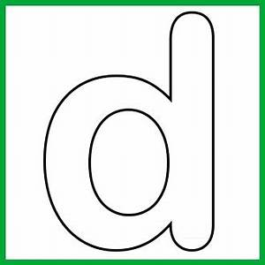 Lower Case Alphabet Letter d Template and Song | Print it ...
