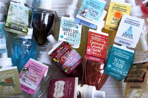 bath works body wallflower refill scents winter blend descriptions citrus sunlight musk vetiver inspired social