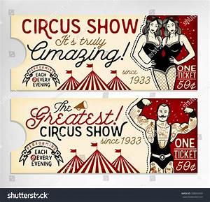 Vintage Circus Ticket Stock Vector 338092094 : Shutterstock