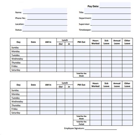 daily timesheet template 15 sle daily timesheet templates to sle templates