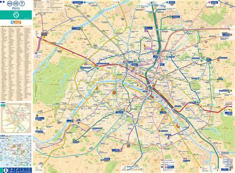La Carte De Metro Rer by Carte De Carte Touristique Et Plan De