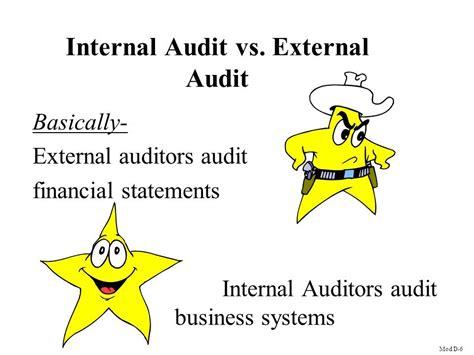 Intern Auditor by Audit Vs External Audit