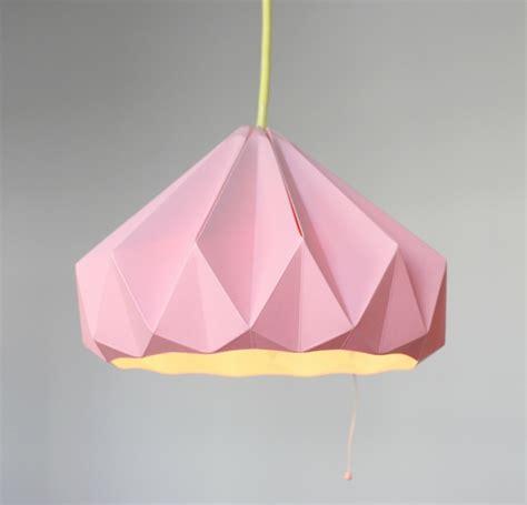 origami lampe  anleitungen fuer eine originelle lichtquelle