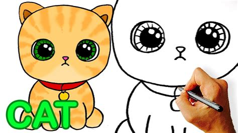 easy   draw cute cartoon cat easy art  kids