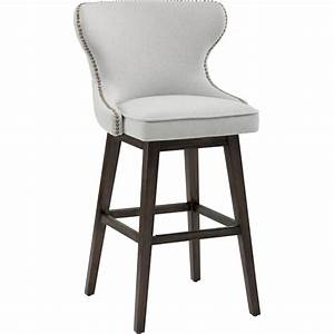 Sunpan 101187 Ariana Swivel Counter Height Stool in Tufted