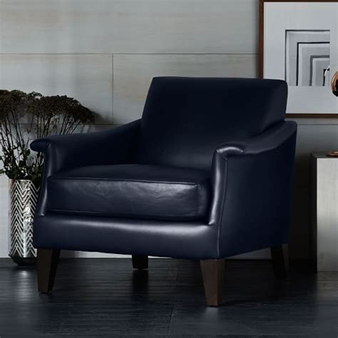 writer s leather club chair west elm