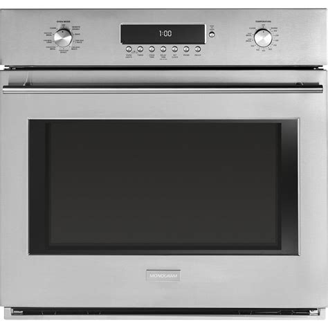 ge monogram zetfhss   single wall oven  stainless steel appliances connection