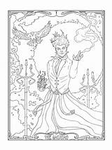 Coloring Pages Tarot Card Mage Magician Adult Printable Getdrawings Getcolorings sketch template