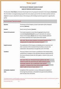 term sheet template sadamatsu hp With venture capital term sheet template