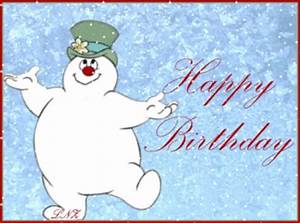 frosty the snowman saying happy birthday