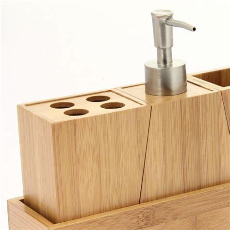 kit d accessoires de salle de bain bois salle de bain eminza