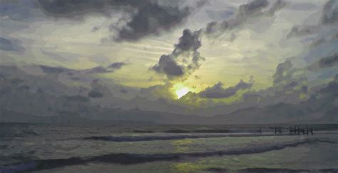 beach sunrise screensaver