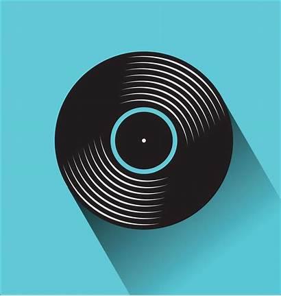 Record Vinyl Vector Illustration Concept Flat Clipart