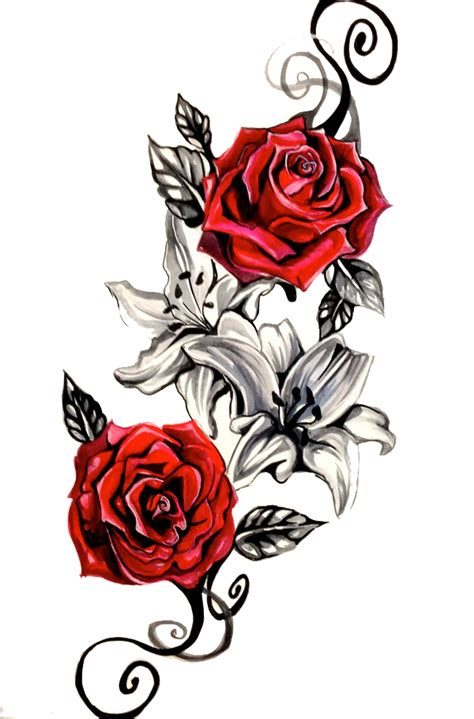 rose tattoo png transparent  images png