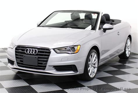 convertible audi used 2015 used audi a3 cabriolet certified a3 2 0t quattro awd