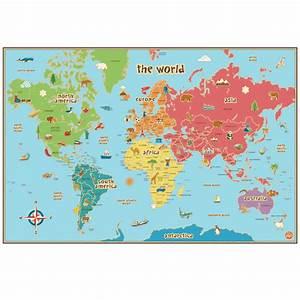 Affiche Carte Du Monde : carte du monde pour enfants adh sive ~ Dailycaller-alerts.com Idées de Décoration
