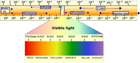 Frequency Of Visible Light by Visible Light Spectrum Electromagnetic Wavelengths